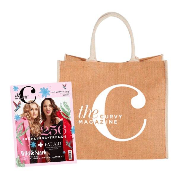 the Curvy Magazine Jahresabo mit CurvyC-Bag weiss