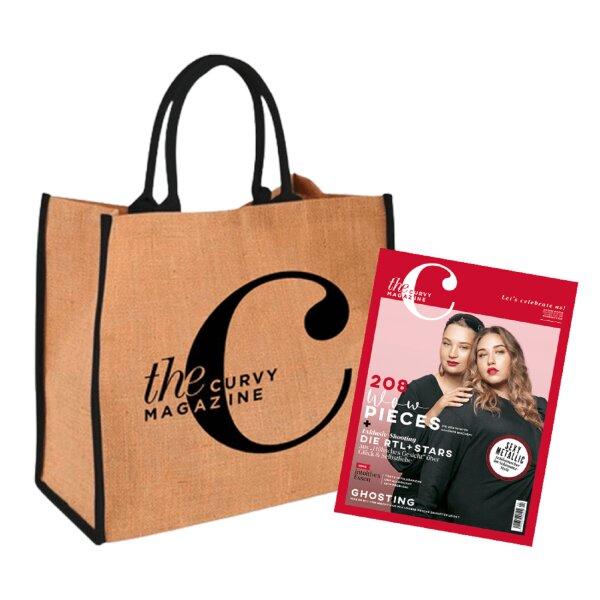 the Curvy Magazine Jahresabo nächste Ausgabe mit CurvyC-Bag schwarz